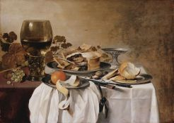 Still life with pie and Roemer de Pieter Claesz - 1647