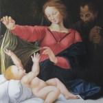 """copie de la peinture de Raphael """" Notre Dame de Lorette"""" qui se trouve à Chantilly"""