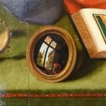 miroir convexe peint, détail d'une peinture de Metsys
