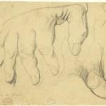 dessin d'étude, main