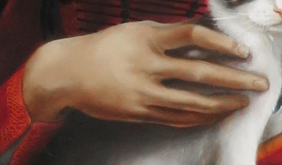 main, peinture, détail