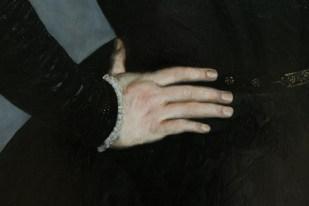 peinture flamande, détail main