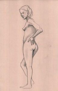 dessin, croquis, modele vivant,