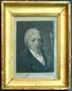 Louis-Léopold Boilly, Porrtait d'homme au verre brisé, vers 1800,