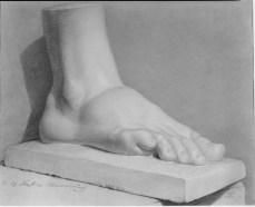 dessin de pied
