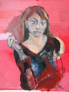 peinture, portrait d'Aga Werner