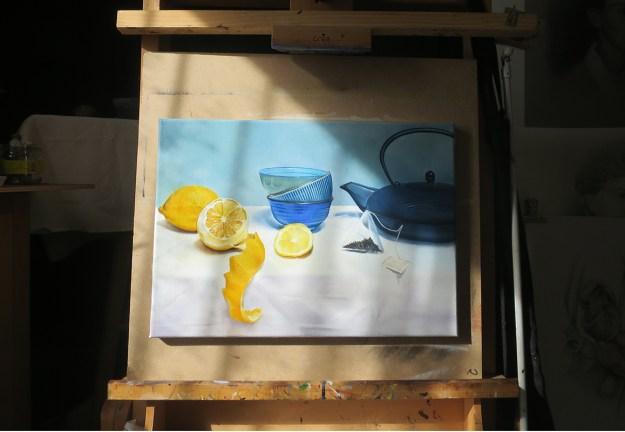 rayon de soleil sur peinture