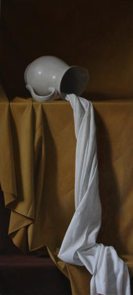 drapé, peinture, le coulant