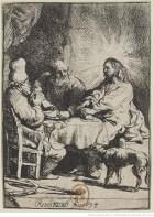 Gravure des disciples d'Emmaüs