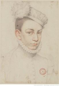portrait, dessin, Clouet