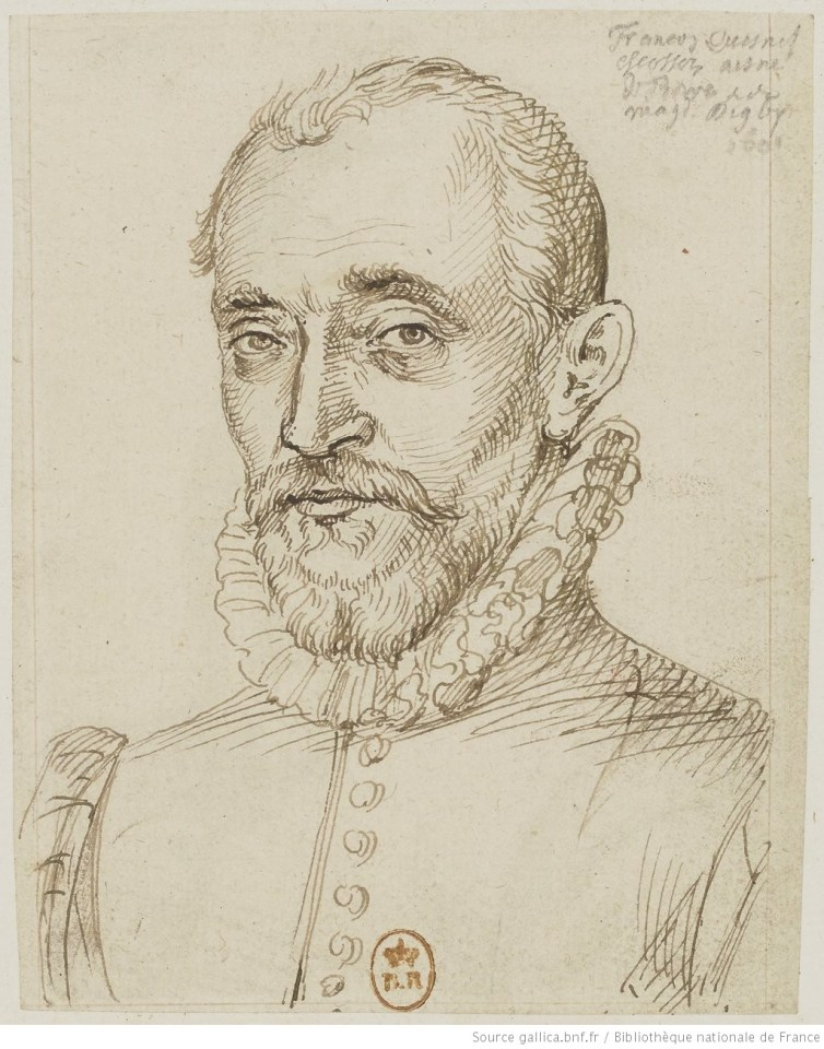 portrait, encre, bnf, Quesnel