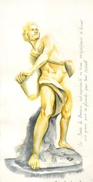 David de Bernini croquis aquarelle