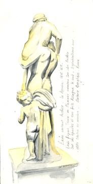 croquis statuaire le berlin - Enée portant Anchise