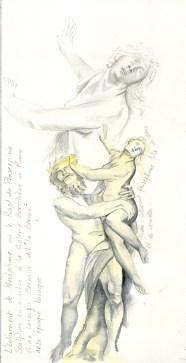 croquis statuaire le berlin - Rapt de Persephone
