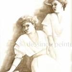 portrait femme aquarelle