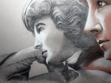 dessin portrait de femmes du 19e