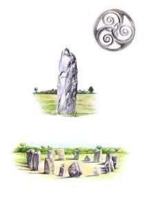 """illustrations pour le livre """"Plantes des druides"""""""