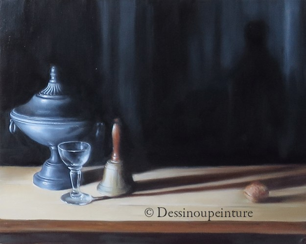 Nature morte , peinture à l'huile