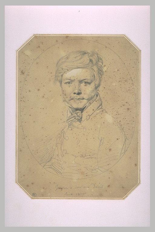 portrait dessiné de David d'Angers par Ingres