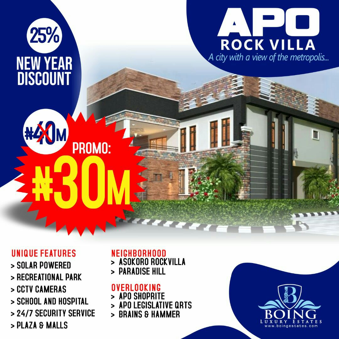 Cheap Estate Land For Sale in Apo Rock Villa Estate,Abuja