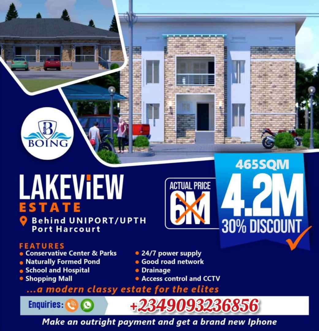 Land For Sale in Lakeview Estate, Choba, Port Harcourt