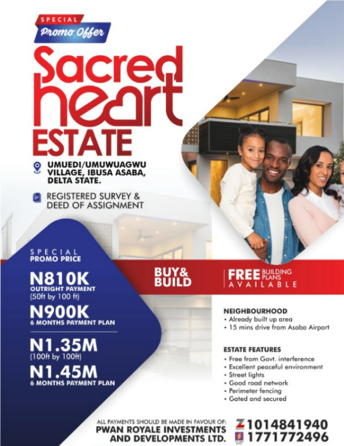 Best Deal in Sacred Heart Estate Asaba