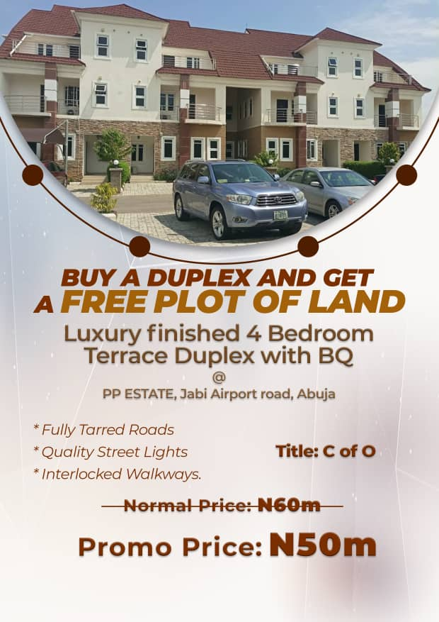 4 Bedroom Terrace Duplex with BQ For Sale at PP ESTATE