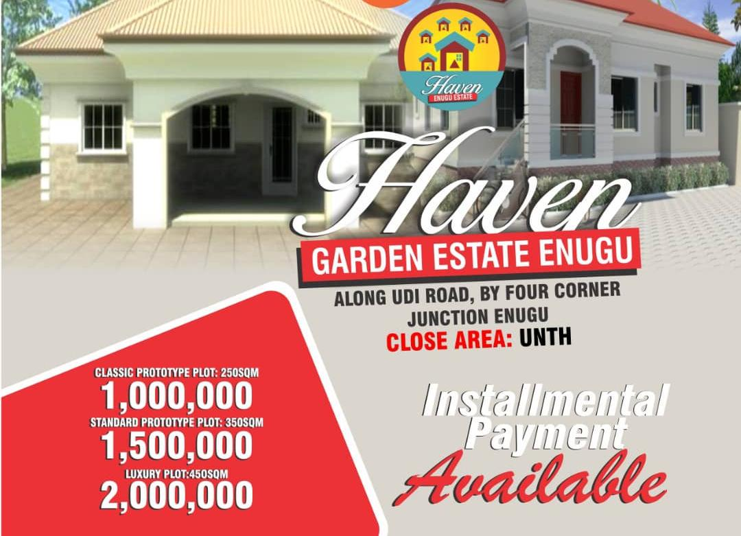 HAVEN GARDEN ESTATE ENUGU HOT DEAL