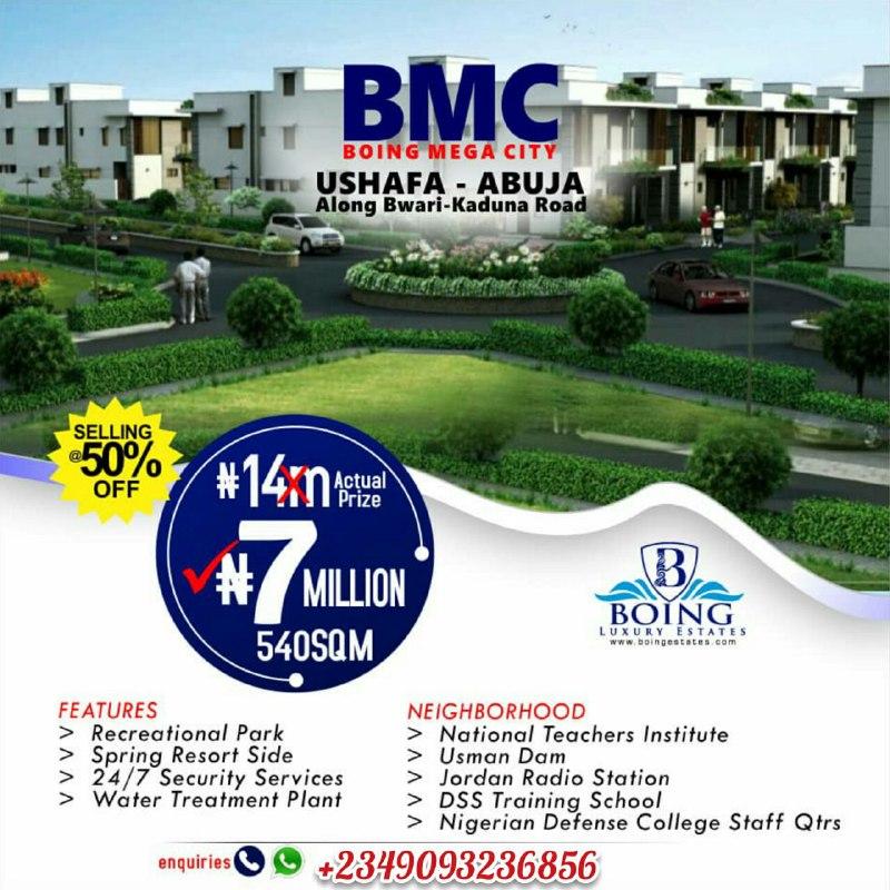 Boing Mega City Estate Ushafa, Abuja