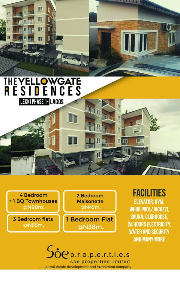 Fractional Ownership Investment Home in YellowGate Residences, Lekki