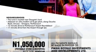 Now Selling at Rejoice Gardens Estate, Omagwa, Port Harcourt