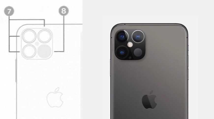 Sızan kamera modülü yerleşimi (sol) fan oluşturma (sağ)