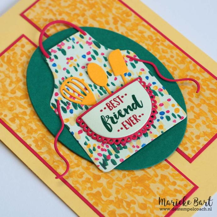 Best friends ever apron with Apron of Love stampset and Apron Builder framelits by Stampin' Up!