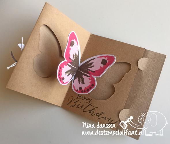 New Vlinder pop up kaart – De Stempelolifant #KA81