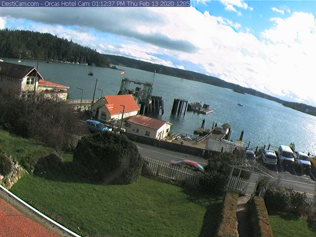 Live Webcam of the Orcas Island Ferry Landing