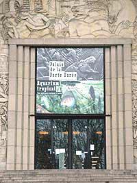 Fronton de l'aquarium de la porte Dorée | MAAO porte d'entrée.