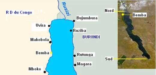 Carte de localisation de Tropheus duboisi à Bemba / Pemba.