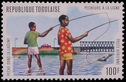 Pêche à la ligne au Togo.