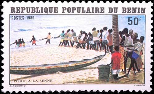 Pêche à la senne au Bénin.
