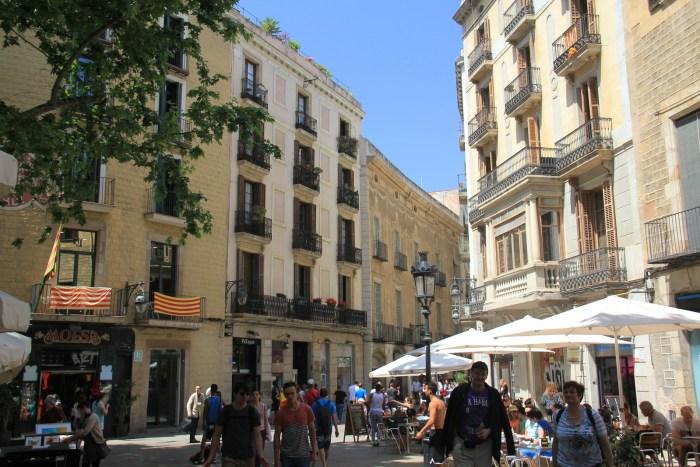 Dans les rues de Barcelone