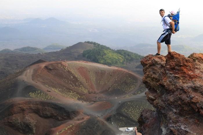 Sur le volcan Etna