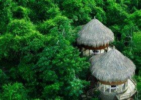 Ecohabs inspirés des habitations indigenes (Source : Unique Colombia)