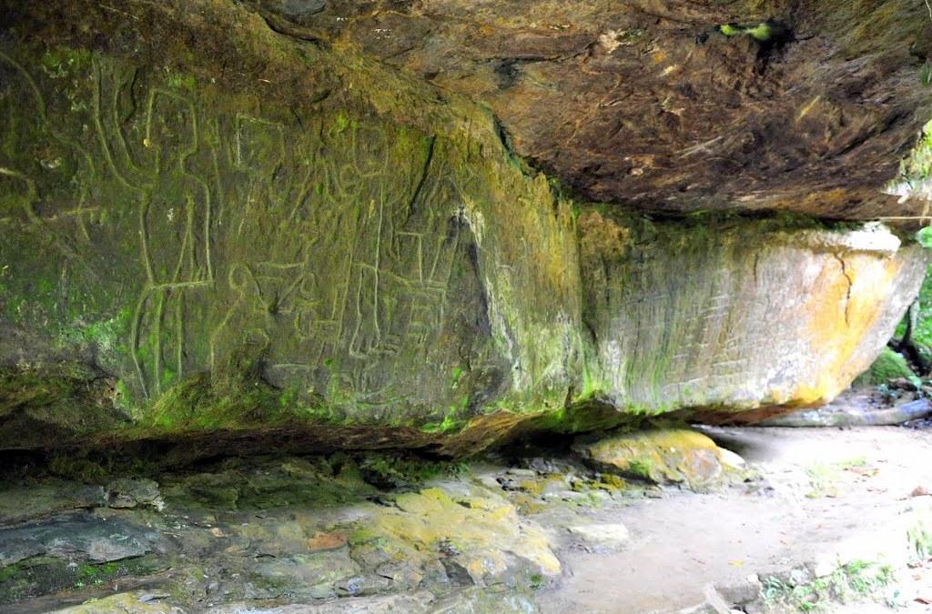 Les pétroglyphes du site d'El Encanto