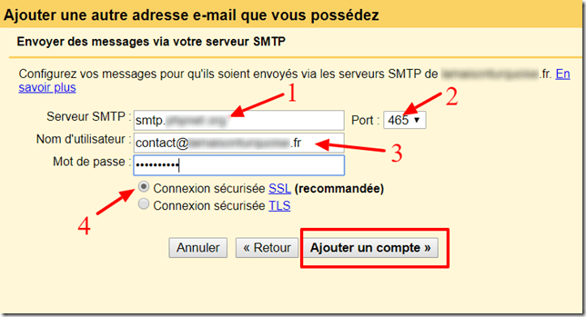 configurer gmail9