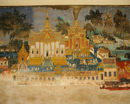 Royal Palace Phnom Penh Art  Royal Palace Frescoes