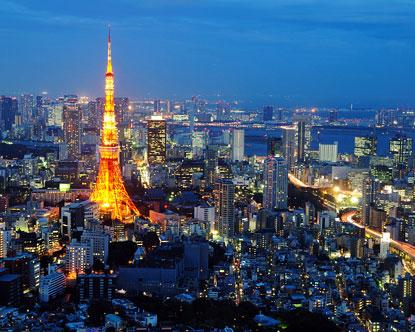 Tokyo Skyline - Tokyo Skyline at Night