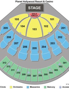 Zappos theater seating chart also planet hollywood resort and casino rh destination
