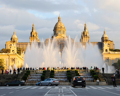 Magic Fountain  Montjuic Fountain  Fountain in Barcelona