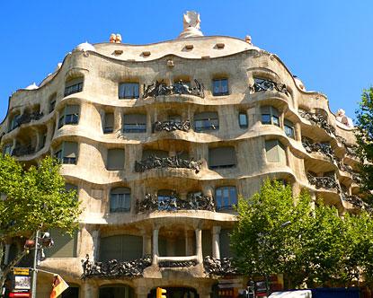 La Pedrera  Casa Mila  Casa Mila Barcelona