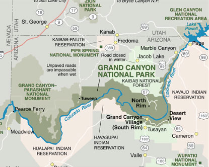 Visiting grand canyon national park is on just about everyone's list of things to do before they kick the bucket. Grand Canyon Maps
